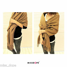 NEW Brown Thick Scarf Ladies Winter Shawl Cotton Womens Wrap Ladies UK P&P