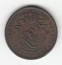 MONNAIE 2 CENTIMES 1905 LEOPOLD BELGIQUE BELGIE