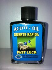 MYSTICAL / SPIRITUAL OIL (ACEITE) FOR SPELLS & ANOINTING 1/2 OZ FAST LUCK