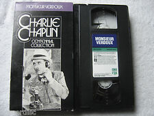 Charlie Chaplin Monsieur Verdoux Centennial Collection VHS 1992 VHS Video Preown