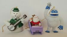 LOT 3 Rudolph The Red Nosed Reindeer Custom Ornaments Sam Bumble Santa New