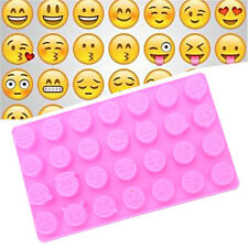 Emoji Cute Face DIY Silicone For Cake Chocolate Sugar Candy Soap Baking Mould UK