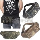 Canvas Camo Fanny Pack Pocket Pouch Purse Travel Camping Waist Hip Bum Belt bags