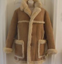 Vintage Sawyer of Napa Size 38 Lamb 100% Wool Shearling Men's Coat $2,500 RETAIL