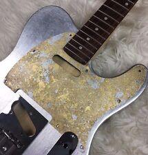Pickguard Fender Telecaster style GOLD SILVER LEAF scratchplate battipenna S