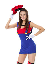 Aimerfeel ladies sexy Super Mario fancy dress costume, hen party, size 10-12