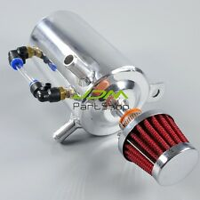 """0.5L 0.5 LITRE OIL BREATHER TANK CATCH CAN WITH 12mm (1/2"""") OD BARB - red 4k"""