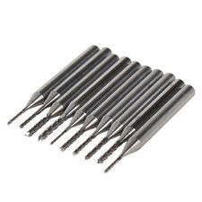 3.175mm Carbide End Mill Engraving Bits CNC PCB Machinery 0.6-1.5mm Cutting10PCS
