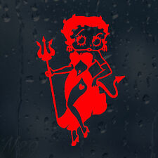Betty Boop Devil Funny Rude Car Windscreen Body Panel Laptop Decal Vinyl Sticker