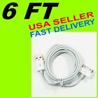 PREMIUM 6 FT LONG CHARGE SYNC USB DATA CABLE APPLE iPHONE 4S 4 4G 3GS 3G iPOD