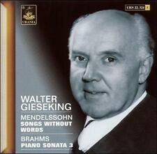 Mendelssohn: Songs without Words; Brahms: Piano Sonata No. 3 (8025726223245) New
