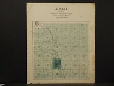 Wisconsin, Green County, Albany or Jordan Townships 1902 Double Sided K6#64