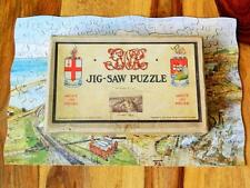 VINTAGE 1928-32 BOXED G.W.R CHAD VALLEY RARE SWANSEA DOCKS WOODEN JIGSAW PUZZLE