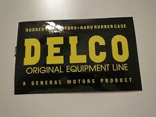 GENERAL MOTORS DELCO ORIGINAL EQUIPMENT BATTERIES BATTERY SIDE DECAL NEW CORRECT