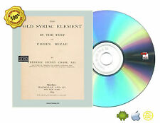 The old Syriac element in the text of Codex Bezae Book On CD