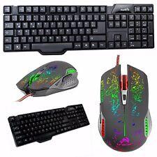 Highend Gaming Maus + Tastatur Gamer USB kabelgebunden Computer Pc Spiele Zocker
