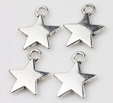 15pcs Tibet Silver Star Loose Spacer Charms Pendants Jewelry Finding 13x11mm