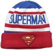 New Era Mens Biggest Fan 2.0 SUPERMAN Knit Beanie Winter Hat - Adult One Size