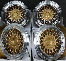 "17"" GOLD RS ALLOY WHEELS FITS BMW E46 E90 E91 E92 E93 Z3 Z4 F30 F31 F32 F33 X3"