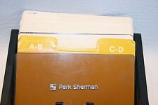 Park Sherman  Vintage Phone Address File  Rolodex