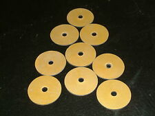 10 Rubber Washers Self adhesive backed both sides 32.5mmO/D X 5mmI/D X 1.4mmThk