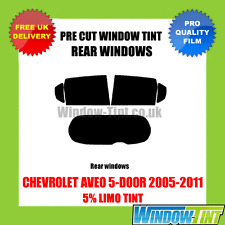 CHEVROLET AVEO 5-DOOR 2005-2011 5% LIMO REAR PRE CUT WINDOW TINT