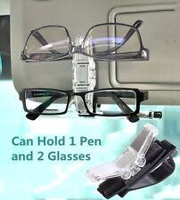 Car Sun Visor Clip Sunglasses Glasses Business Name Card Pen Key Chain Holder J6