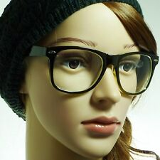 NERD Retro Vintage Oversized Frame Unisex Fashion Clear Lens Eye Glasses GREEN