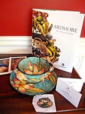 ARDMORE CERAMIC New 2-pc. LARGE BOWL & SAUCER, Monkeys AAA-rated! S.Africa $2800