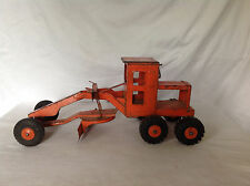 Vintage 1960's Marx Lumar Pressed Steel Orange Road Grader