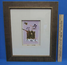 Framed Wall Hanging Picture Lilac Impression Flowers Purple Daisy White Gold