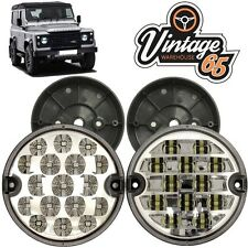 Land Rover Defender 95mm LED Clear Rear Fog Lamp Reversing Light Upgrade + Base