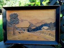 Antique Black Forest Wood Carving & Frame Baden-Wurttemberg Theodore Weisser