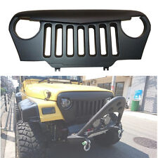 Matte Black Angry Bird Overlay Grill Grille For Jeep Wrangler TJ 1997-2006