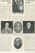LE CATEAU  ARTICLE DE PRESSE PAR E. PICARD ADJOINT AU MAIRE 1921