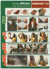 ALITALIA Gruppo EMBRAER 170 safety card 64502055 06/2001 standard size - sc622