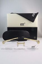 Mont Blanc MB 472 028 Rimless Gold on Black New Authentic Eyeglasses 57mm w/Box