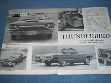1964 Ford Thunderbird New Car Vintage Info Article