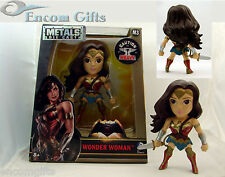 "METALS DieCast WONDER WOMAN M3 Batman Vs Superman Movie Version 4"" JADA Figure"