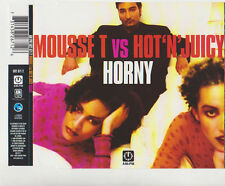 MOUSSE T vs HOT`N`JUICY HORNY 6 TRACK CD SINGLE