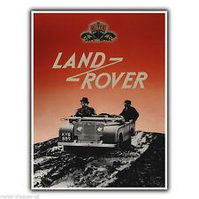 Land Rover De Colección Retro Antiguo Anuncio Cartel Placa cartel impresión de pared de metal