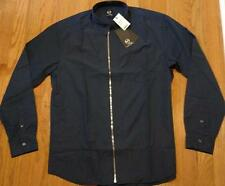 "$385 Mens McQ Alexander McQueen ""Zipped Shields"" Sport Shirt Dark Navy 52 US 42"