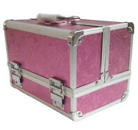 Pro Pink Rose Beauty Jewellery Storage Bag Cosmetic Box Make Up Nail Vanity Case