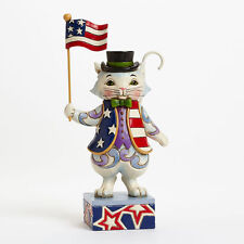 Jim Shore Heartwood Creek / Patriotic Cat NIB #4036235 c2013