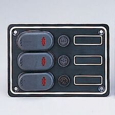 MARINE BOAT 3 GANG SPLASHPROOF SWITCH PANEL W/ LED ODM