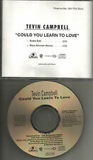 TEVIN CAMPBELL Could you learn to love REMIX & EDIT PROMO DJ CD single 1996 MINT