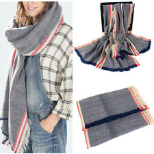 Fashion Women Blanket Oversized Scarf Wrap Warm Shawl Plaid Checked Pashmina Top