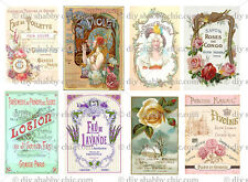 A6 FURNITURE SOAP DECALS STICKER SHABBY CHIC FRENCH IMAGE TRANSFER VINTAGE LABEL