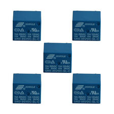 5Pcs Mini 10A 5V DC SONGLE Power Relay SRD-5VDC-SL-C PCB Type