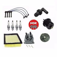Complete Tune Up Kit Filters Cap Rotor NGK Wires Plugs Valve Honda CRV 99 to 01